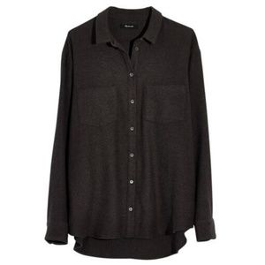 Madewell Flannel Sunday shirt dark gray